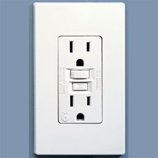 GFCI 2-Plug Outlet with Cover Plate 15A/20A