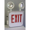 OUTDOOR WET LED Combo Exit Sign RED Letters w/Battery