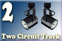 TWO Circuit Track Lighting