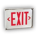 OUTDOOR  WET LED Exit Sign Red Letters w/Battery